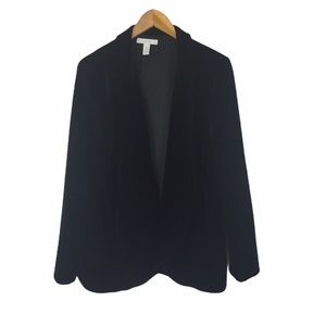 Chico's black velvet blazer